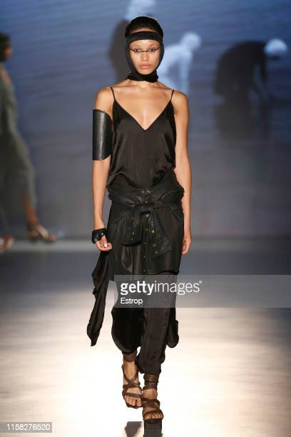 A model walks the runway at the Nicholas K show during Barcelona 080 Fashion Week Spring/Summer 2020 on June 25 2019 in Barcelona Spain