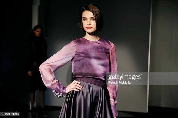 A model walks the runway at the NIOXIN Styles CHRISTIAN COTA Fall/Winter 2008 Fashion Show at ESPACE on February 7 2008 in New York City