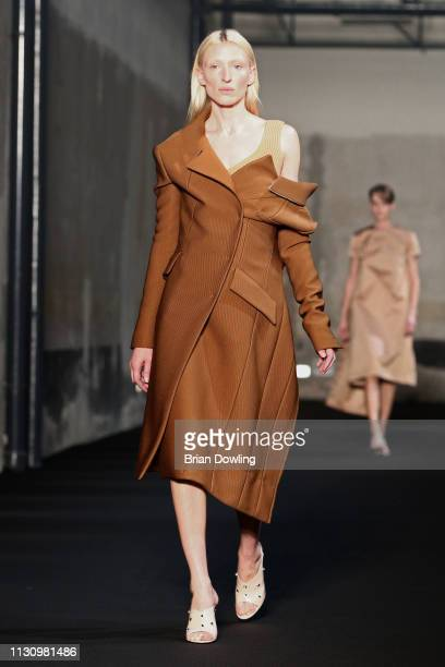 Model walks the runway at the No21 show at Milan Fashion Week Autumn/Winter 2019/20 on February 20, 2019 in Milan, Italy.