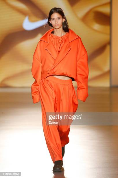 A model walks the runway at the Nous Etudions show during Barcelona 080 Fashion Week Spring/Summer 2020 on June 26 2019 in Barcelona Spain