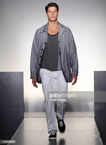 A model walks the runway at the NumberLab Spring 2012 fashion show during MercedesBenz Fashion Week at The High Line Room The Standard Hotel on...