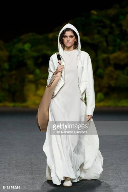 A model walks the runway at the Oliva show during the MercedesBenz Madrid Fashion Week Autumn/Winter 2017 at Ifema on February 20 2017 in Madrid Spain