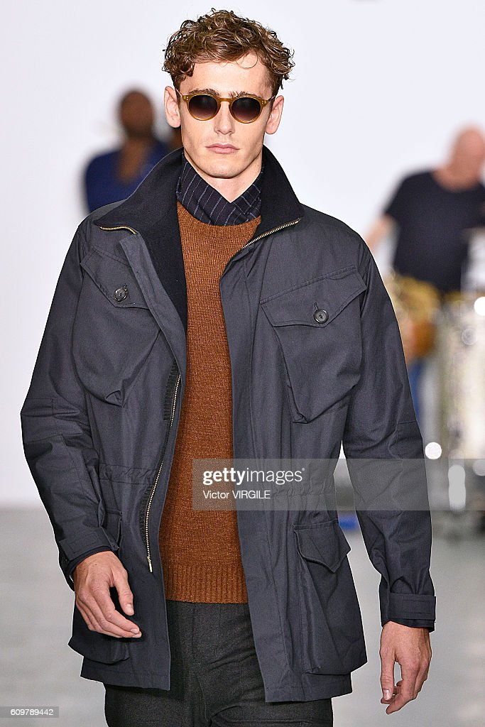 A model walks the runway at the Oliver Spencer Ready to Wear show during London Fashion Week Spring/Summer collections 2017 on September 20, 2016 in London, United Kingdom.