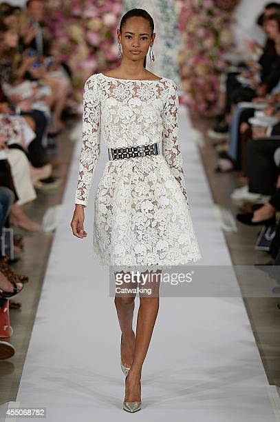 A model walks the runway at the Oscar De La Renta Spring Summer 2015 fashion show during New York Fashion Week on September 9 2014 in New York United...