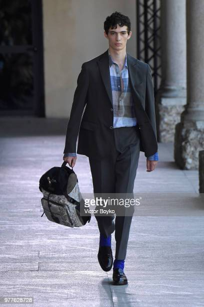 Models walk the runway at the Pal Zileri show during Milan Men's Fashion Week Spring/Summer 2019 on June 18 2018 in Milan Italy