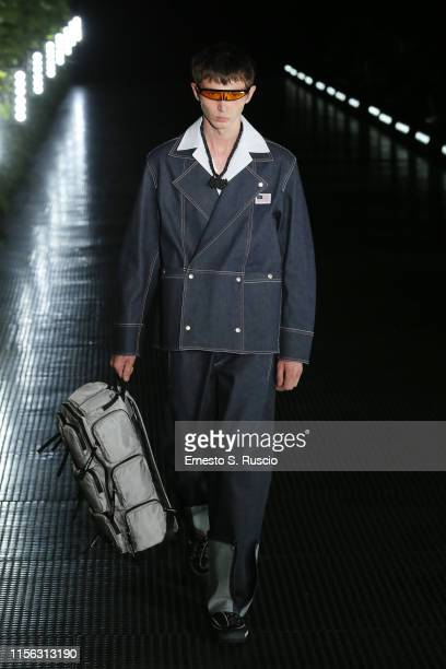 A model walks the runway at the Palm Angels fashion show during the Milan Men's Fashion Week Spring/Summer 2020 on June 16 2019 in Milan Italy