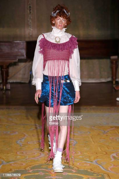 A model walks the runway at the Palomo Spain fashion show during Paris Men's Fashion Week Spring/Summer 2020 on June 18 2019 in Paris France