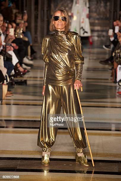 A model walks the runway at the Pam Hogg show during London Fashion Week Spring/Summer Collections 2017 on September 16th 2016 in London United...