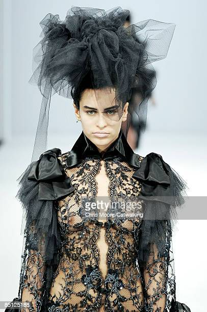 A model walks the runway at the Pam Hogg show during London Fashion Week Autumn/Winter 2009 February 23 2009 in London England