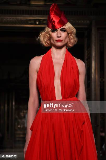 FEBRUARY 19 FEBRUARY 19 A model walks the runway at the Pam Hogg show during the London Fashion Week February 2017 collections on February 19 2017 in...
