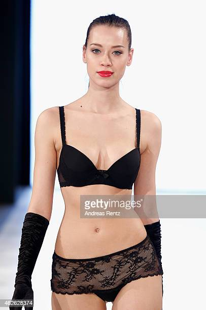 A model walks the runway at the Passionata show during the Platform Fashion February 2015 on February 1 2015 in Duesseldorf Germany