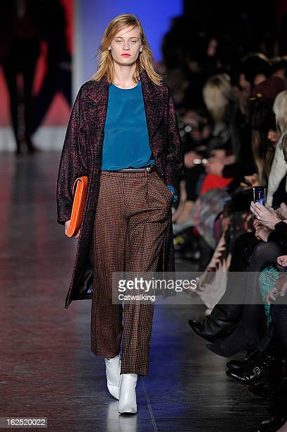 A model walks the runway at the Paul Smith Autumn Winter 2013 fashion show during London Fashion Week on February 17 2013 in London United Kingdom