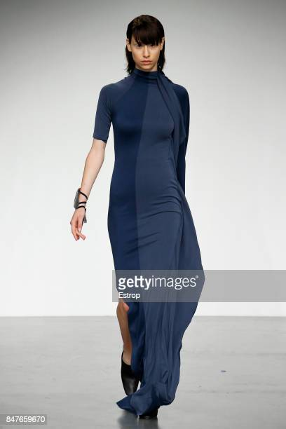 A model walks the runway at the Paula Knorr show during London Fashion Week September 2017 on September 15 2017 in London England