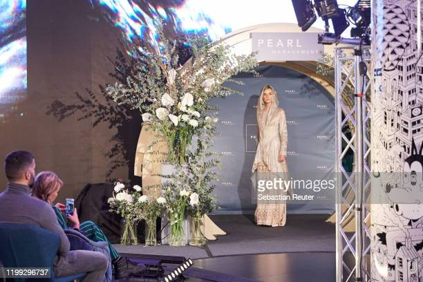 A model walks the runway at the PEARL Model Management Fashion Aperitif at The Reed on January 13 2020 in Berlin Germany