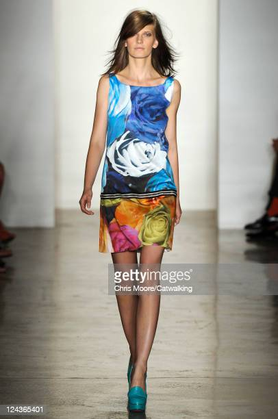 Model walks the runway at the Peter Som fashion show during New York Fashion Week on September 9, 2011 in New York, United States.