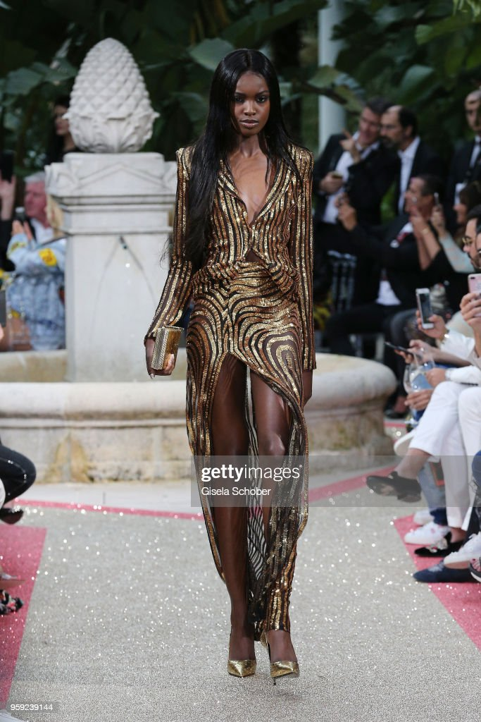 A model walks the runway at the Philipp Plein 'Dynasty' Women's & Men's Resort 2019 Fashion Show during the 71st annual Cannes Film Festival on May 16, 2018 in Cannes, France.