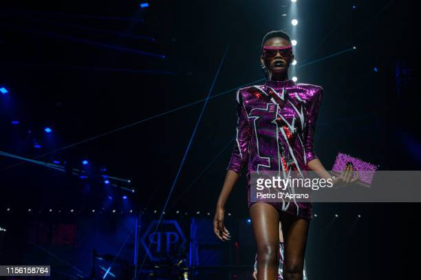 A model walks the runway at the Philipp Plein fashion show during Milan Men's Fashion Week Spring/Summer 2020 on June 15 2019 in Milan Italy