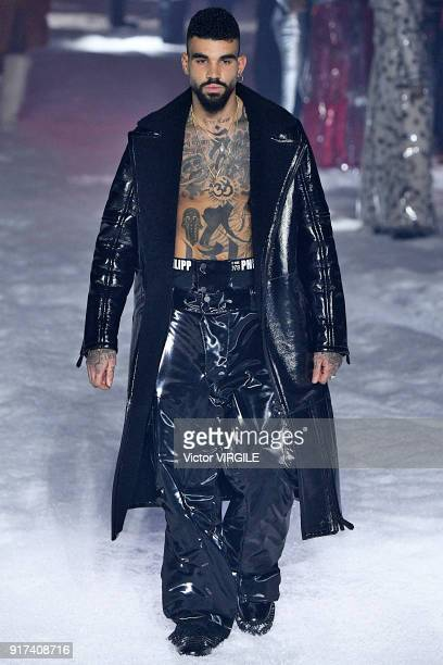 A model walks the runway at the Philipp Plein Ready to Wear Fall/Winter 20182019 Fashion Show during New York Fashion Week on February 10 2018 in New...