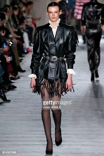 A model walks the runway at the Philosophy di Lorenzo Serafini Ready to Wear Fall/Winter 20182019 fashion show during Milan Fashion Week Fall/Winter...