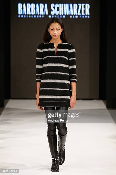 A model walks the runway at the Platform Fashion Selected show during the Platform Fashion February 2015 on February 1 2015 in Duesseldorf Germany