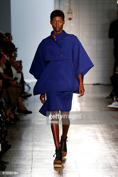 Model walks the runway at the Ports 1961 designed by Natasa Cagalj show Milan Fashion Week Spring/Summer 2017 on September 22, 2016 in Milan, Italy.