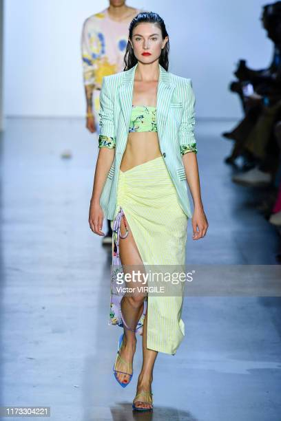 Model walks the runway at the Prabal Gurung Ready to Wear Spring/Summer 2020 fashion show during New York Fashion Week on September 08, 2019 in New...