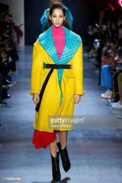 A model walks the runway at the Prabal Gurung Ready to Wear Fall/Winter 20192020 fashion show during New York Fashion Week on February 10 2019 in New...
