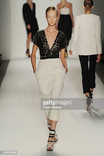 A model walks the runway at the Prabal Gurung Spring 2011 fashion show during MercedesBenz Fashion Week at The Studio at Lincoln Center on September...
