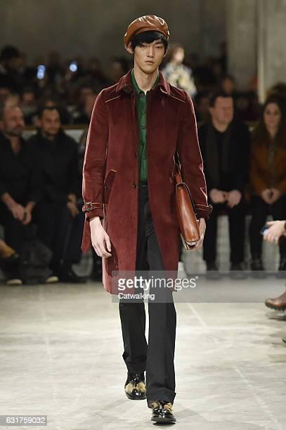 1a868bb400841 A model walks the runway at the Prada Autumn Winter 2017 fashion show  during Milan Menswear