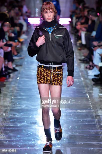 c1f4c3f63463 A model walks the runway at the Prada fashion show during Milan Men's Fashion  Week Spring