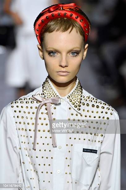 A model walks the runway at the Prada Ready to Wear fashion show during Milan Fashion Week Spring/Summer 2019 on September 20 2018 in Milan Italy