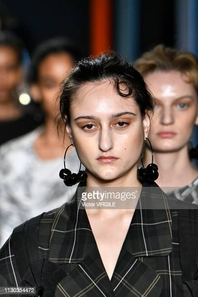 A model walks the runway at the Preen by Thornton Bregazzi Ready to Wear Fall/Winter 20192020 fashion show during London Fashion Week February 2019...