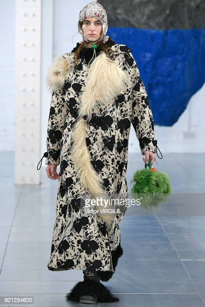 A model walks the runway at the Preen by Thornton Bregazzi Ready to Wear Fall/Winter 20182019 fashion show during London Fashion Week February 2018...