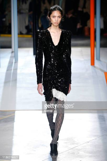 A model walks the runway at the Preen by Thornton Bregazzi show during London Fashion Week February 2019 on February 17 2019 in London England