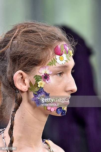 A model walks the runway at the Preen by Thornton Bregazzi show during London Fashion Week Spring/Summer collections 2016/2017 on September 18 2016...