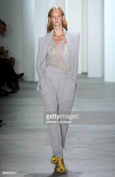 A model walks the runway at the Preen By Thornton Bregazzi Spring 2010 Fashion Show at the Milk Studios on September 11 2009 in New York New York