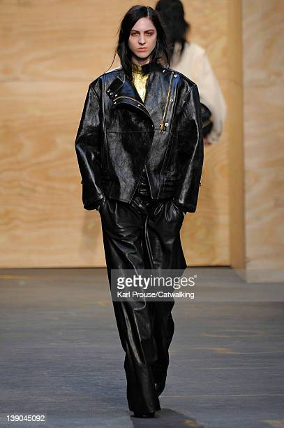 A model walks the runway at the Proenza Schouler Autumn Winter 2012 fashion show during New York Fashion Week on February 15 2012 in New York United...
