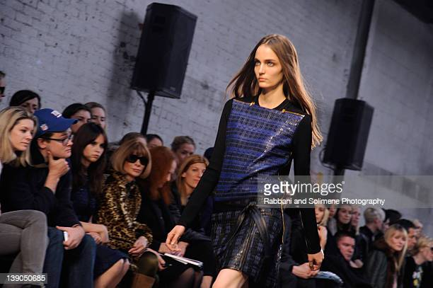 A model walks the runway at the Proenza Schouler Fall 2012 fashion show during MercedesBenz Fashion Week on February 15 2012 in New York City