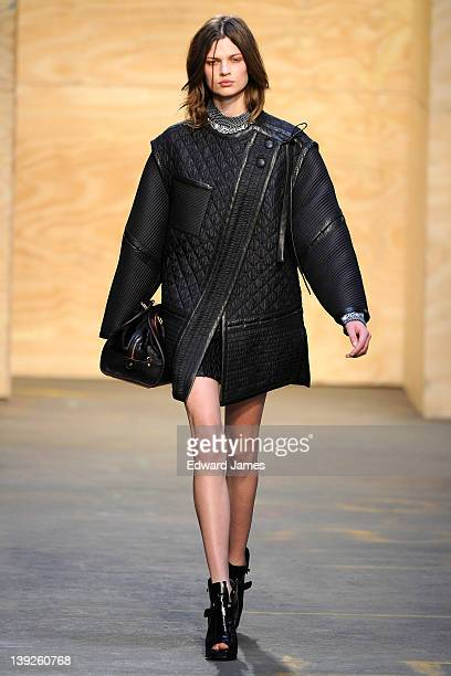 A model walks the runway at the Proenza Schouler Fall 2012 fashion show during MercedesBenz Fashion Week at on February 15 2012 in New York City
