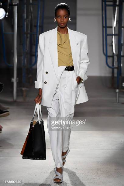 A model walks the runway at the Proenza Schouler Ready to Wear Spring/Summer 2020 fashion show during New York Fashion Week on September 10 2019 in...