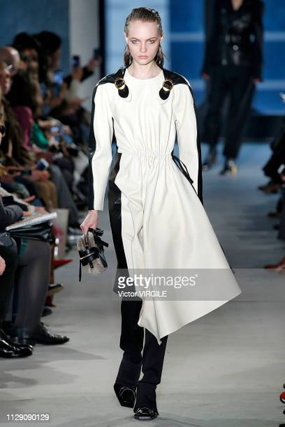 A model walks the runway at the Proenza Schouler Ready to Wear Fall/Winter 20192020 fashion show during New York Fashion Week on February 11 2019 in...