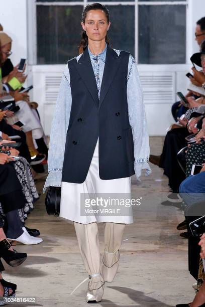 A model walks the runway at the Proenza Schouler Spring/Summer 2019 fashion show during New York Fashion Week on September 10 2018 in New York City