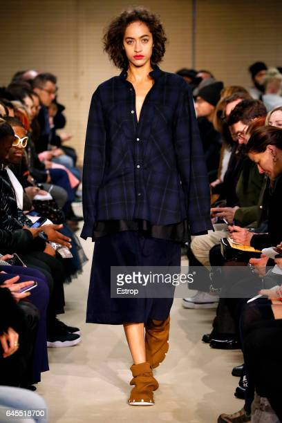 A model walks the runway at the Public School designed by DaoYi Chow Maxwell Osborne show during the New York Fashion Week February 2017 collections...