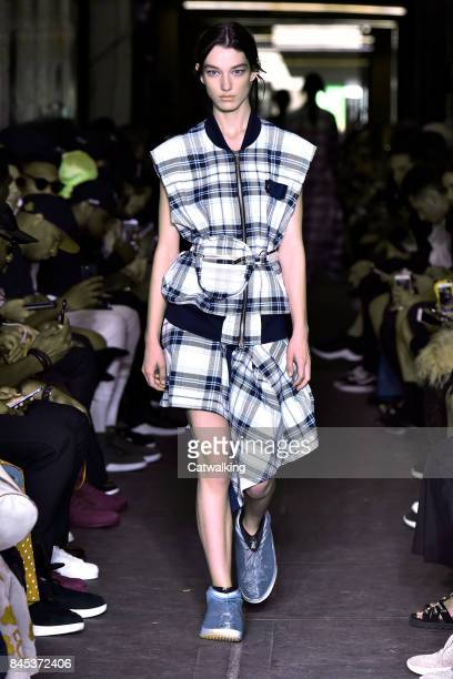 A model walks the runway at the Public School Spring Summer 2018 fashion show during New York Fashion Week on September 10 2017 in New York United...