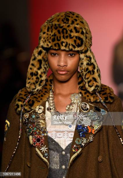 Model walks the runway at the R13 fashion show during New York Fashion Week on February 9, 2019 in New York City.