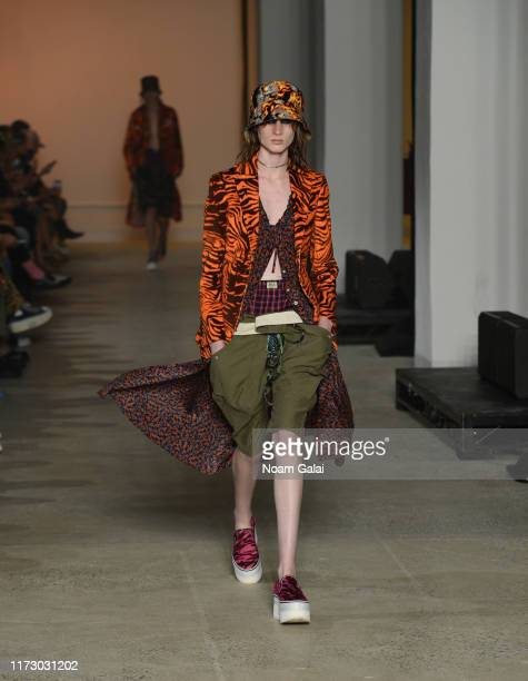 A model walks the runway at the R13 fashion show during New York Fashion Week on September 07 2019 in New York City