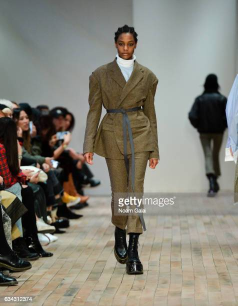 A model walks the runway at the R13 fashion show during New York Fashion Week on February 8 2017 in New York City