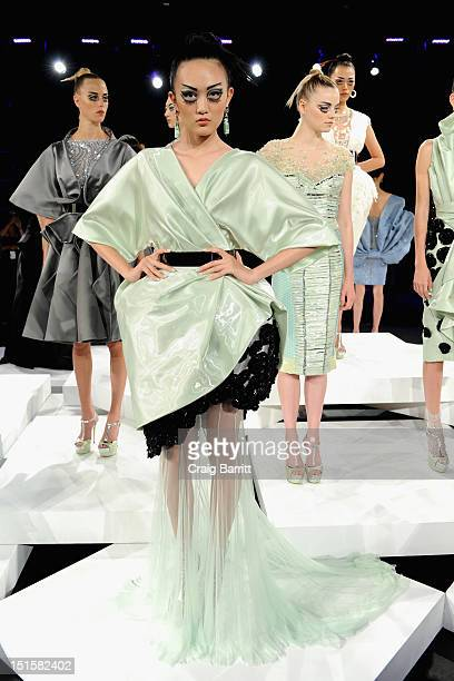 A model walks the runway at the Rafael Cennamo Spring 2013 fashion show during MercedesBenz Fashion Week on September 8 2012 in New York City