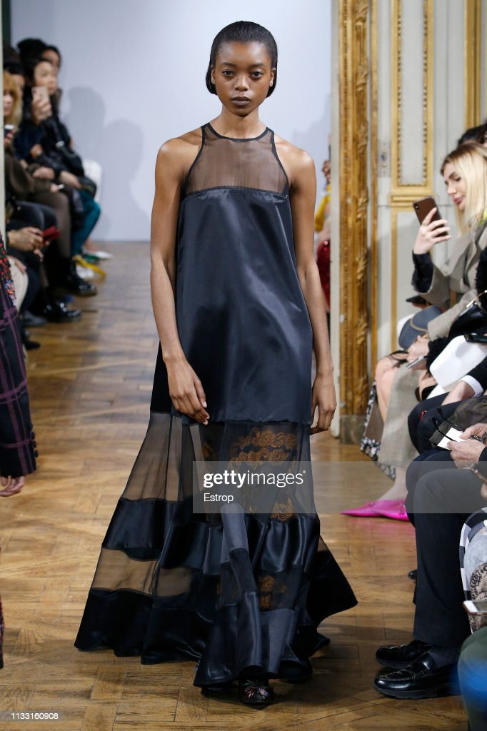 model-walks-the-runway-at-the-rahul-mishra-show-at-paris-fashion-week-picture-id1133160908