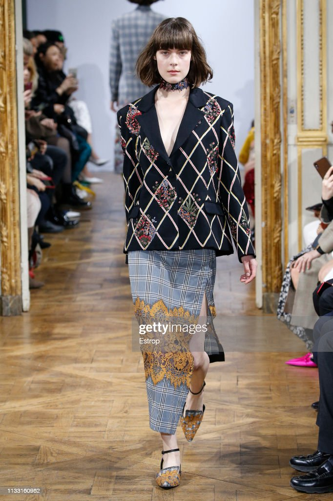 model-walks-the-runway-at-the-rahul-mishra-show-at-paris-fashion-week-picture-id1133160962